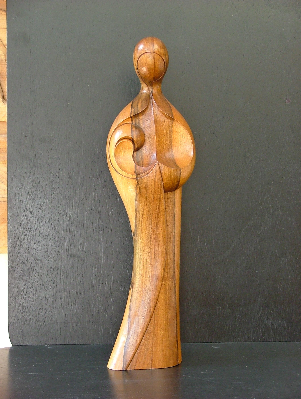 Sculpture contemporaine - Vierge à l'enfant